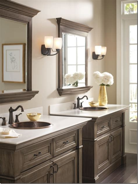 dark bathroom cabinets makeover my vanity omega bathroom cabinetry pinterest