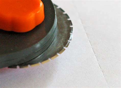 Make Perforated Paper - how to make your own perforations how about orange