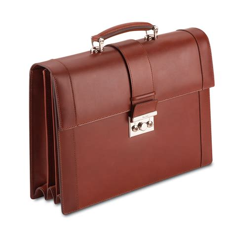 Handmade Briefcase - pineider power elegance leather luxury briefcase reddish