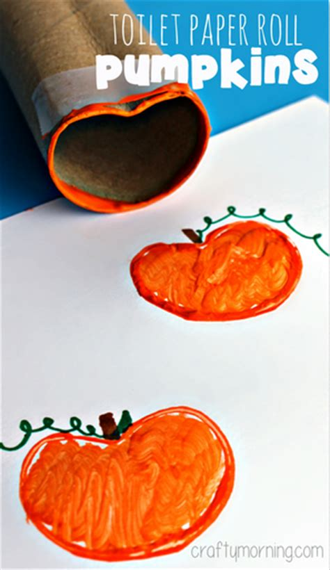 Toilet Paper Pumpkin Craft - toilet paper roll pumpkin st craft for crafty