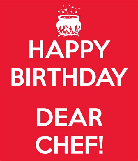 Birthday Wishes For Chef