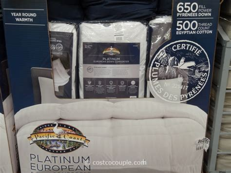 costco comforter pacific coast platinum european down comforter
