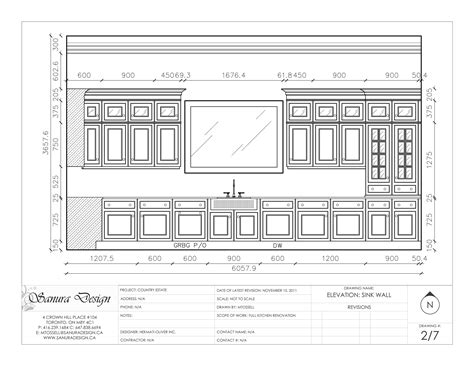 kitchen layout in autocad a detailed elevation of a traditional kitchen featuring