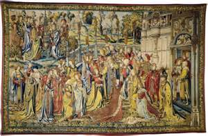 Castle Wall Mural file story of david tapestry david sees bathsheba washing