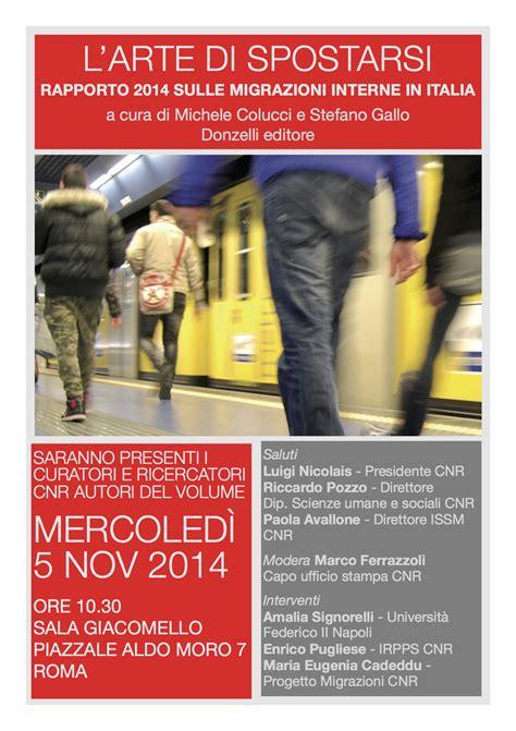 migrazioni interne in italia roma rapporto sulle migrazioni interne in italia