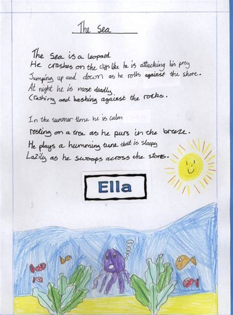 holy trinity pewley  school year  sea poems