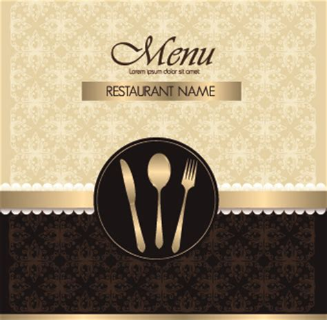 restaurant menu cover template free vector download