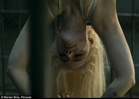 japanese anime upside down margot robbie shows off her flexibility in suicide squad