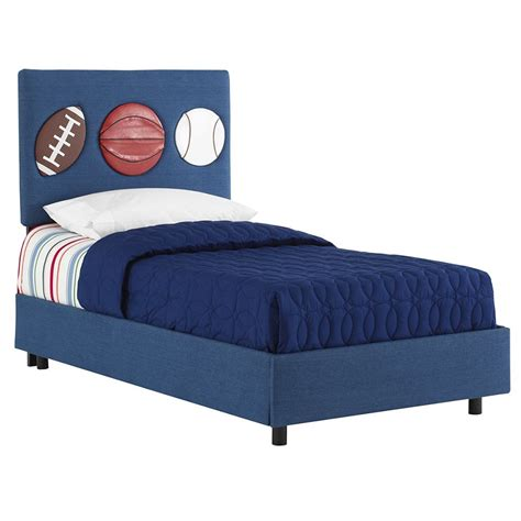 Sports Furniture by Dreamfurniture Three Sport Bed In Denim Blue