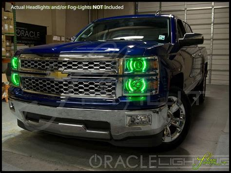 aftermarket lights for trucks oracle 14 16 chevrolet silverado w pro led halo rings