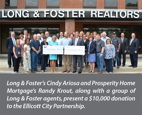 foster and prosperity donate 10k to ellicott city