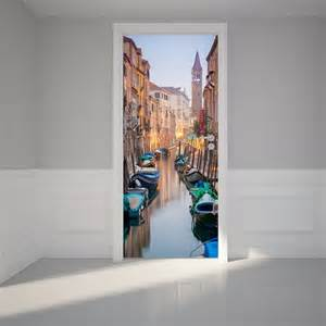 Self Adhesive Wall Mural Door Wall Sticker Trip To Venice Self Adhesive Matt