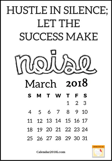 March Sayings For Calendars motivational calendar 2018 calendar 2018