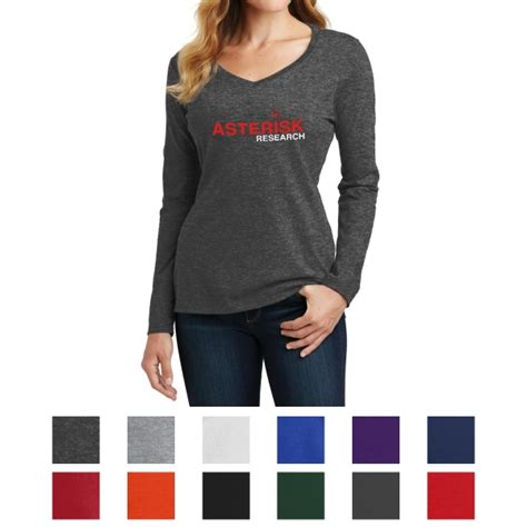 port and company fan favorite tee port company ladies long sleeve fan favorite v neck tee