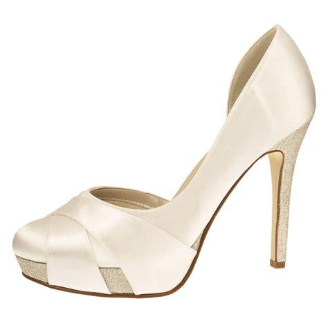 quot kelis ivory satin quot high heels brautschuhe mit glitter