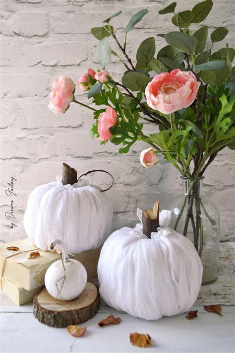 diy no sew fabric pumpkins ready in 5 minutes