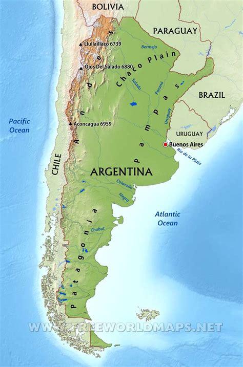 argentina physical map argentina physical map