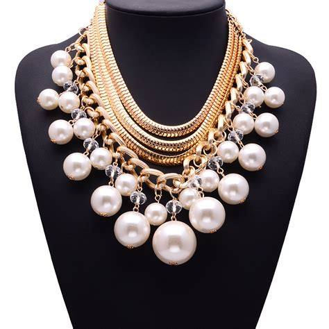 aliexpress buy 2015 fashion luxury multi layer gold chain simulated pearl necklace vintage