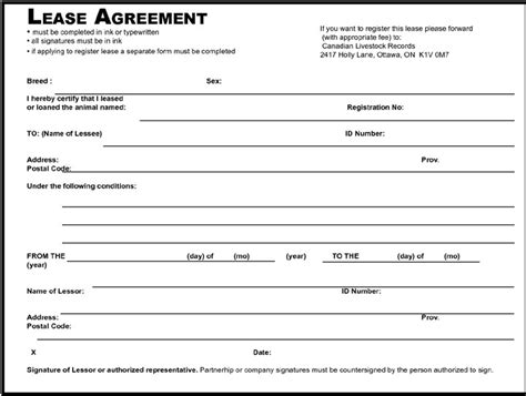 land lease template blank farm lease form images