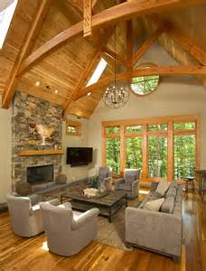 Timber Frame Timber Frame Home Interiors New Energy Works
