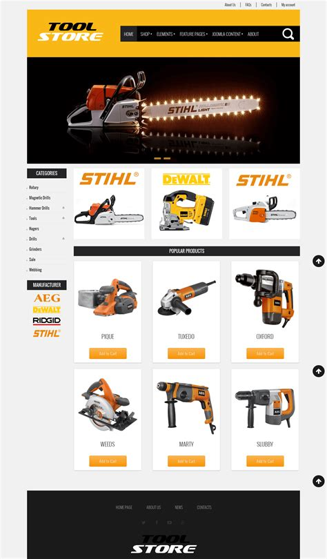 7 Best Responsive Joomla Ecommerce Templates 2015 For Small Business Warehouse Website Template