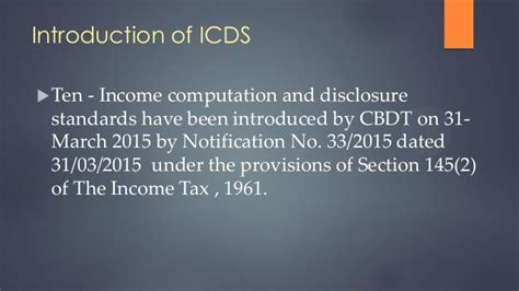 section 91 of income tax act income computation and disclosure standard