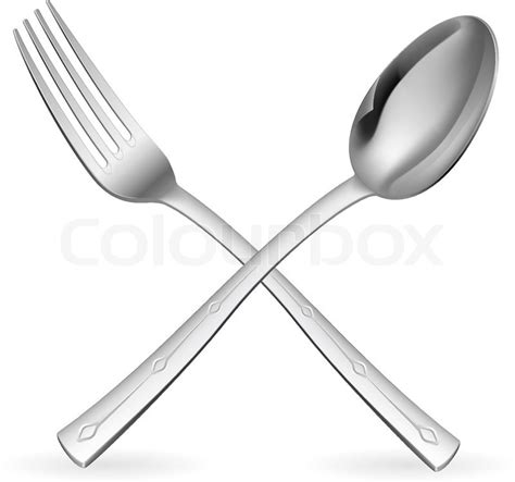 Kitchen Colour Design Tool crossed fork and spoon illustration on white background