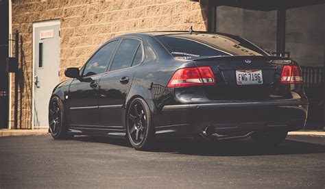 Auto Tuning 93 by Wallpapers Saab 9 3 Aero Black Auto Back View
