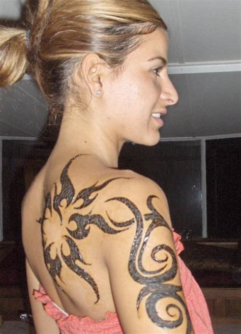 elegant tribal tattoo design for girls busbones