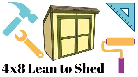 lean  shed plans youtube