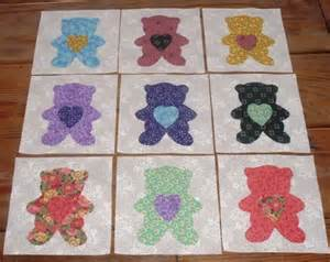 9 scrappy teddy quilt top blocks free by