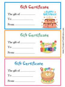 happy birthday gift certificate template gift certificates