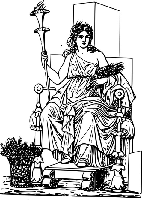 ancient greek gods mythology free video clips free vector graphic ceres ancient greek mythology