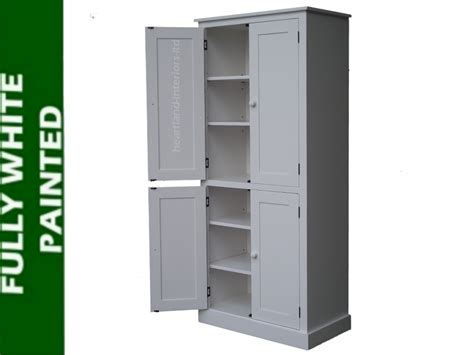 White Pantry Cupboard by 100 Solid Wood Cupboard White Painted Pantry Larder