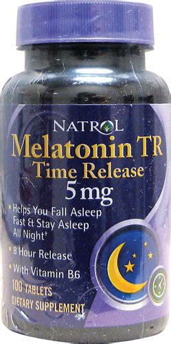Natrol Melatonin Tr 5 Mg 100 Caps tripleclicks melatonin time release 5 mg 100 tabs natrol
