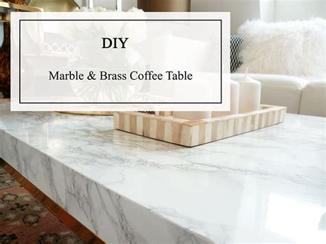 Diy Marble Coffee Table Diy Preciously Me