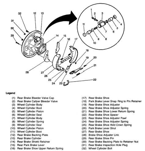 2002 chevy tracker rear brake diagram chevy tracker rear brake diagram car interior design