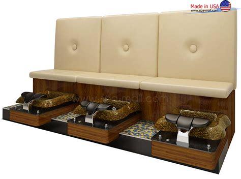 pedicure benches spa mall pedicure benches rosy 3s triple pedicure bench