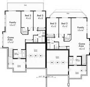 3 bedroom duplex plans