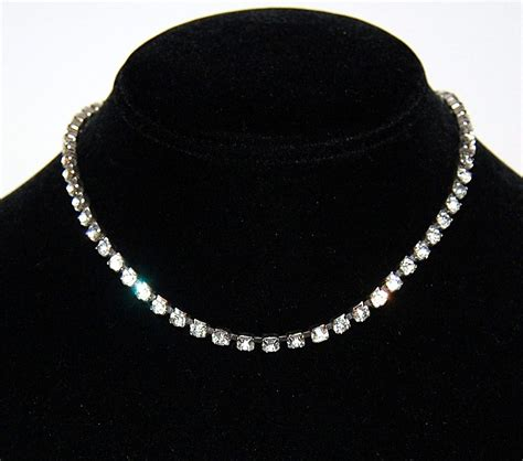Charm Kc Deco coro deco era clear rhinestone choker necklace from kitschandcouture on ruby