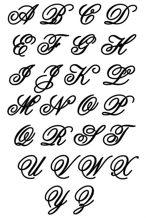 letter clipart script pencil and in color letter