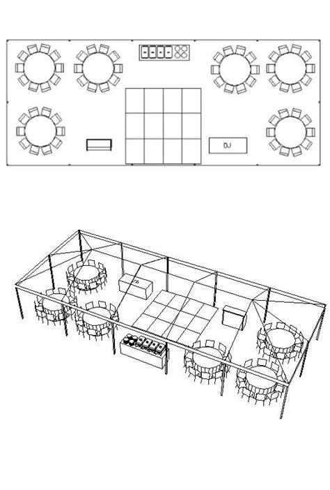 wedding reception layout generator party center