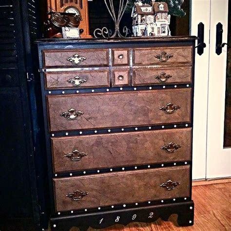 Steamer Trunk Chest Of Drawers steamer trunk inspired curbside chest of drawers makeover