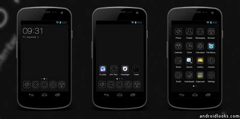 themes for android white black and white android theme for clauncher androidlooks com