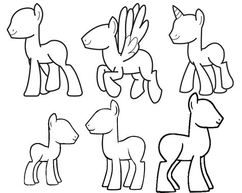My Pony Drawing Template my pony drawing template drawing sketch picture