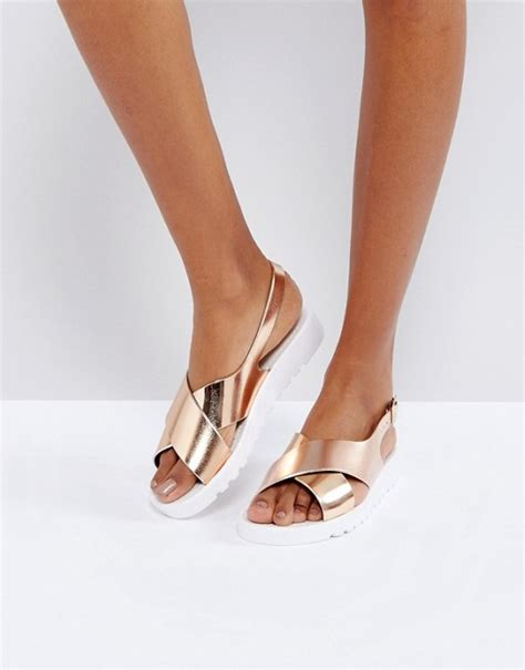 Jelly Shoes Flat Salur asos asos freda jelly flat sandals