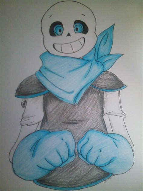 blueberry sans drawing undertale amino