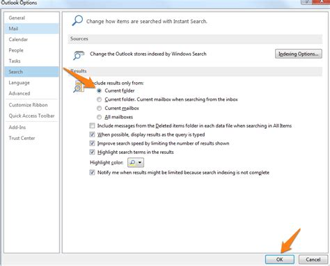 Current Search How Do I Set The Default Search Folder In Outlook 2013