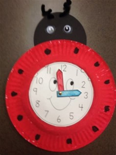How To Make Clock Using Paper Plate - paper plate ladybug crafts crafts and worksheets for