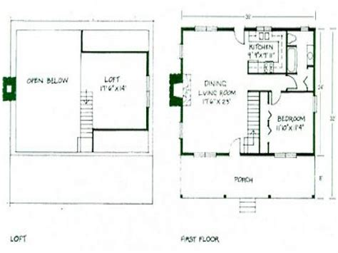 Simple House Plans With Loft | simple small house floor plans small cabin floor plans
